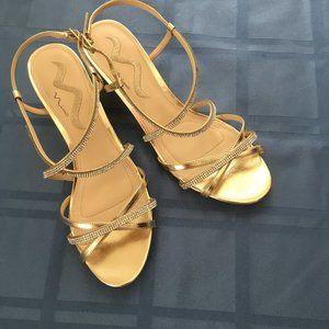 Gold Ladies Sandal